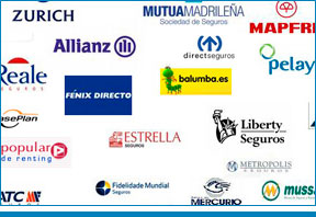 Logotipos de distintas aseguradoras